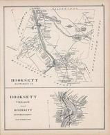 Hooksett, Hooksett Village, New Hampshire State Atlas 1892 Uncolored